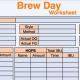 Free Brew Day Worksheet!