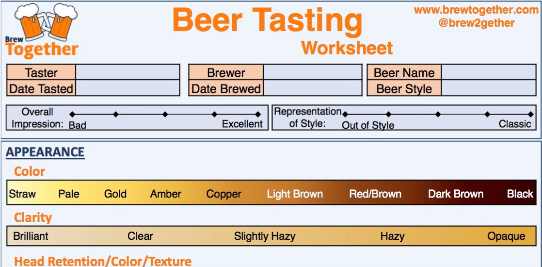 Free Beer Tasting Worksheet!