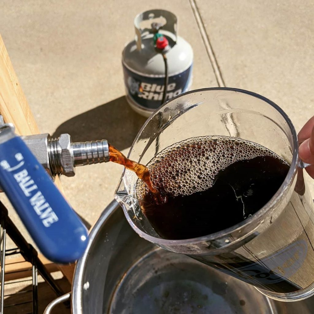 vorlaufing the breakfast brown nut brown ale