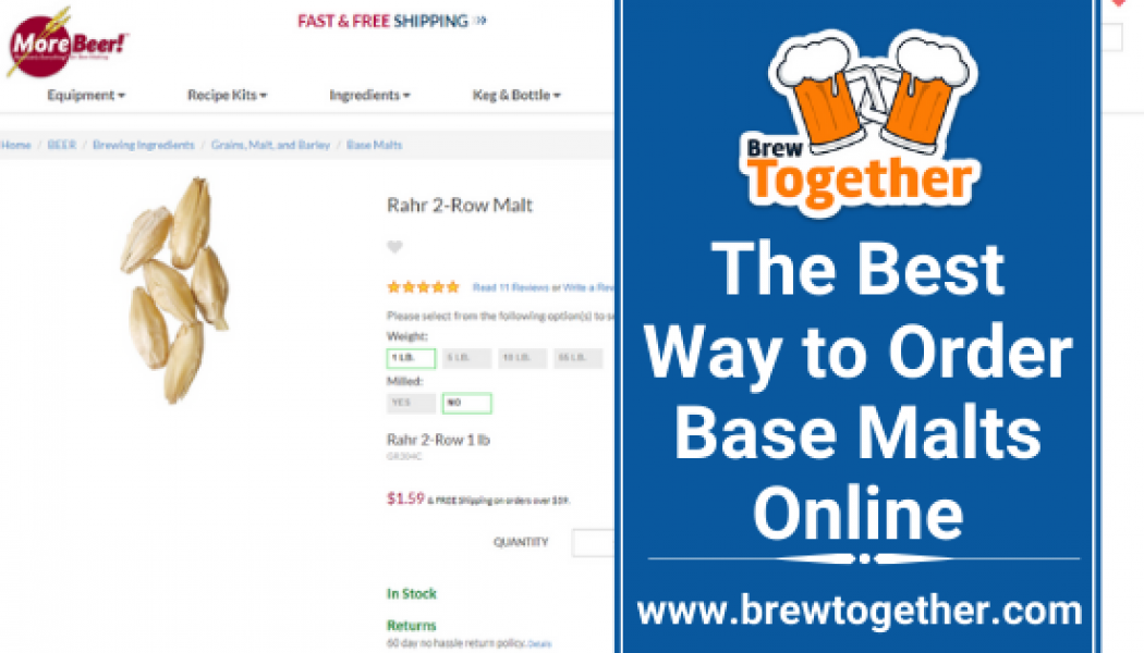 The Best Way to Order Base Malts Online