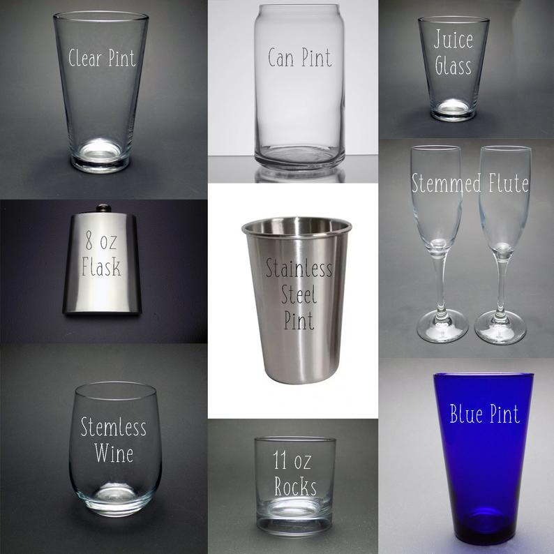 An image showing the types of personalized glasses available.